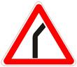 Опасный поворот направо
