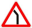 Опасный поворот налево
