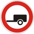 Движение с прицепом запрещено
