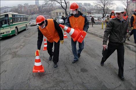 Работники дорожно-эксплуатационных служб